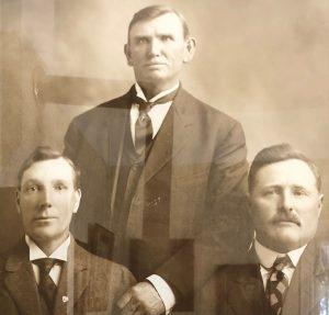 First Wayne Stake Presidency: Joseph Eckersley, Gerson Bastian, John Riley Stewart Photo Credit: Andrea H. Maxfield, September 2019.